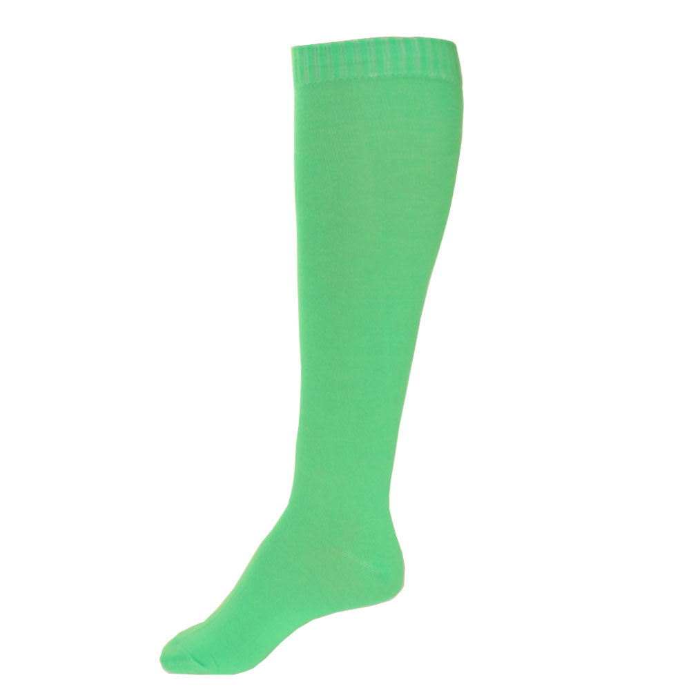 Women's Pair of Lightweight Solid Color Full Length Socks