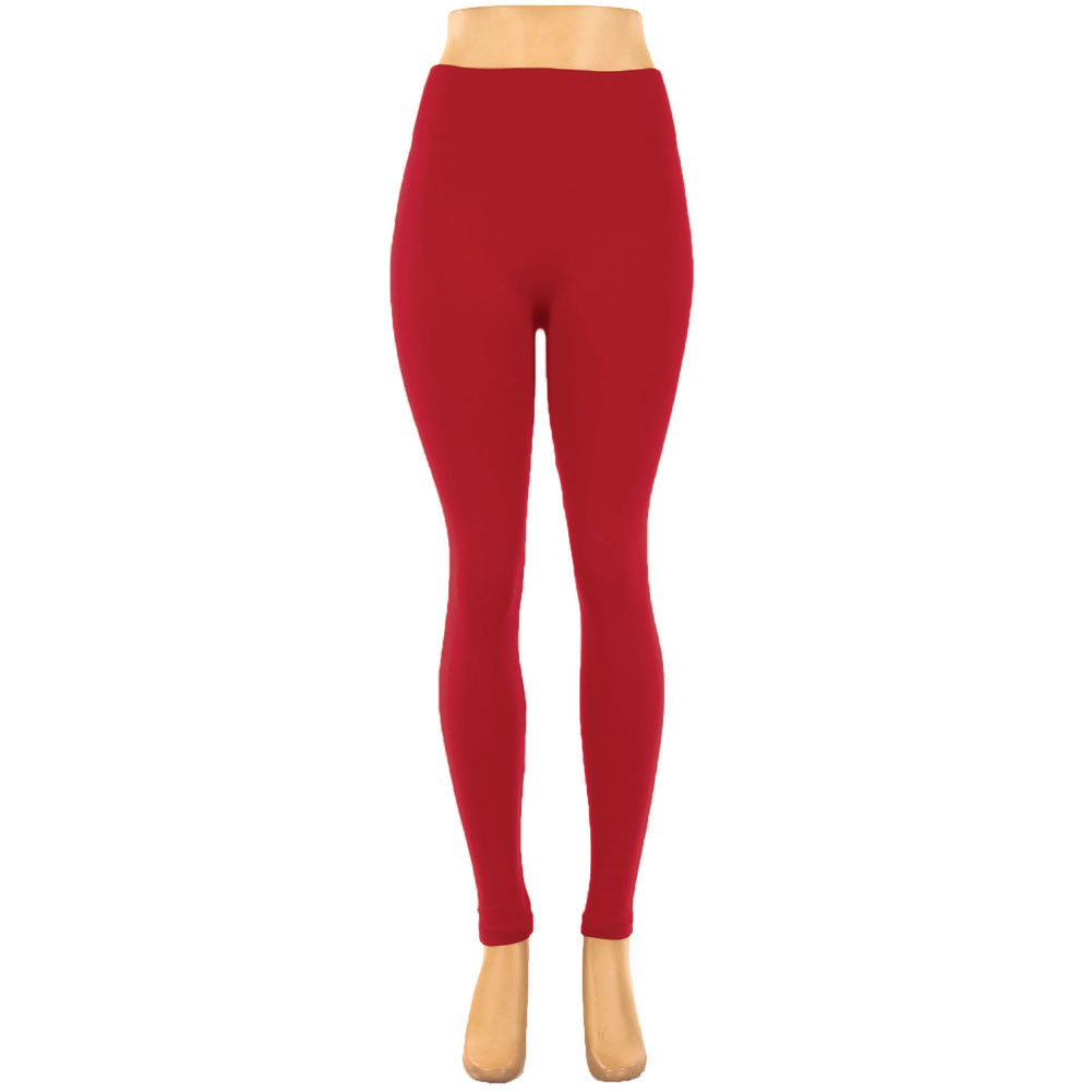 Women's Regular & Plus Size Fleece Lined Leggings