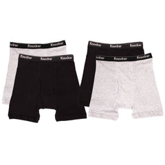 Men's 4 Pack of 100% Cotton Boxer Briefs
