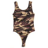 Women's Animal Army Print Bodysuit
