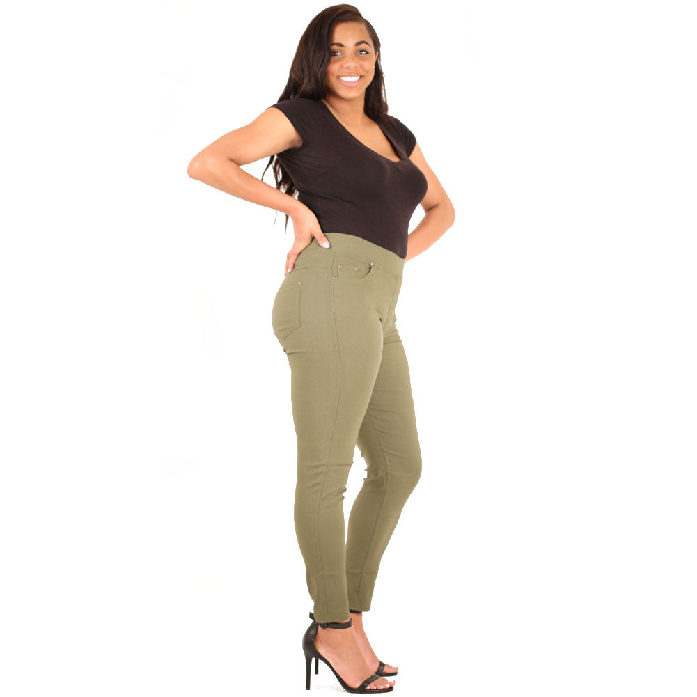Women's Plus Size Stretchy Comfy Slim Fit Pants