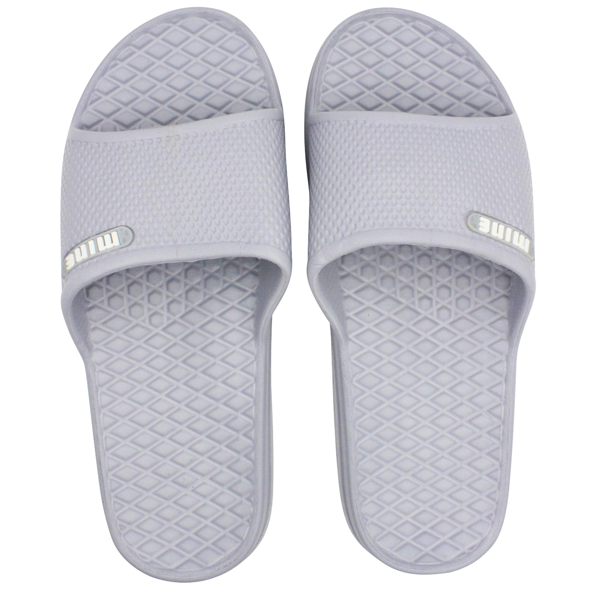 SLM Men's Soft Rubber Cushion Slip On Casual Bathroom and House Slide Sandals