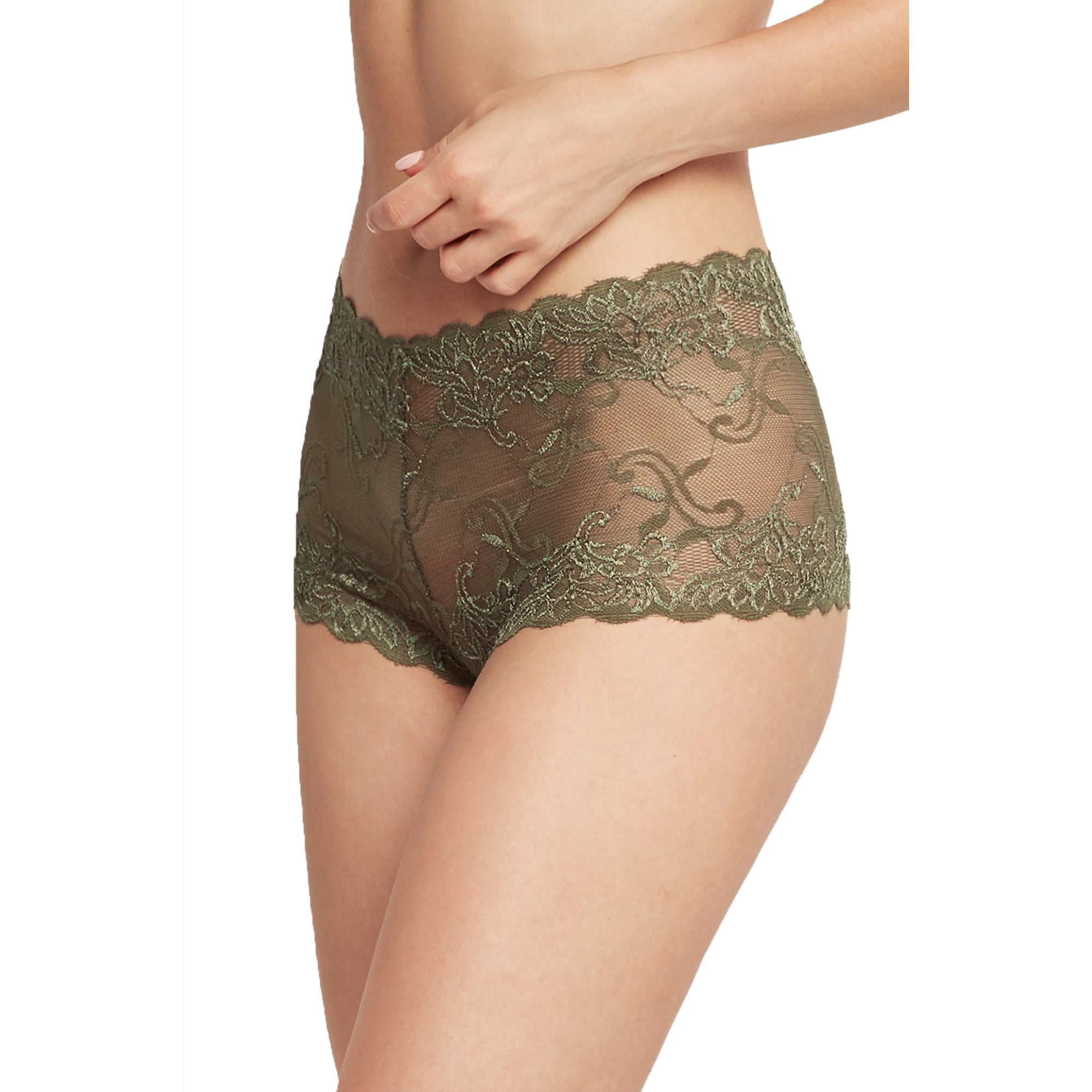 6 Pack of Women's Lace Boyshort Panties