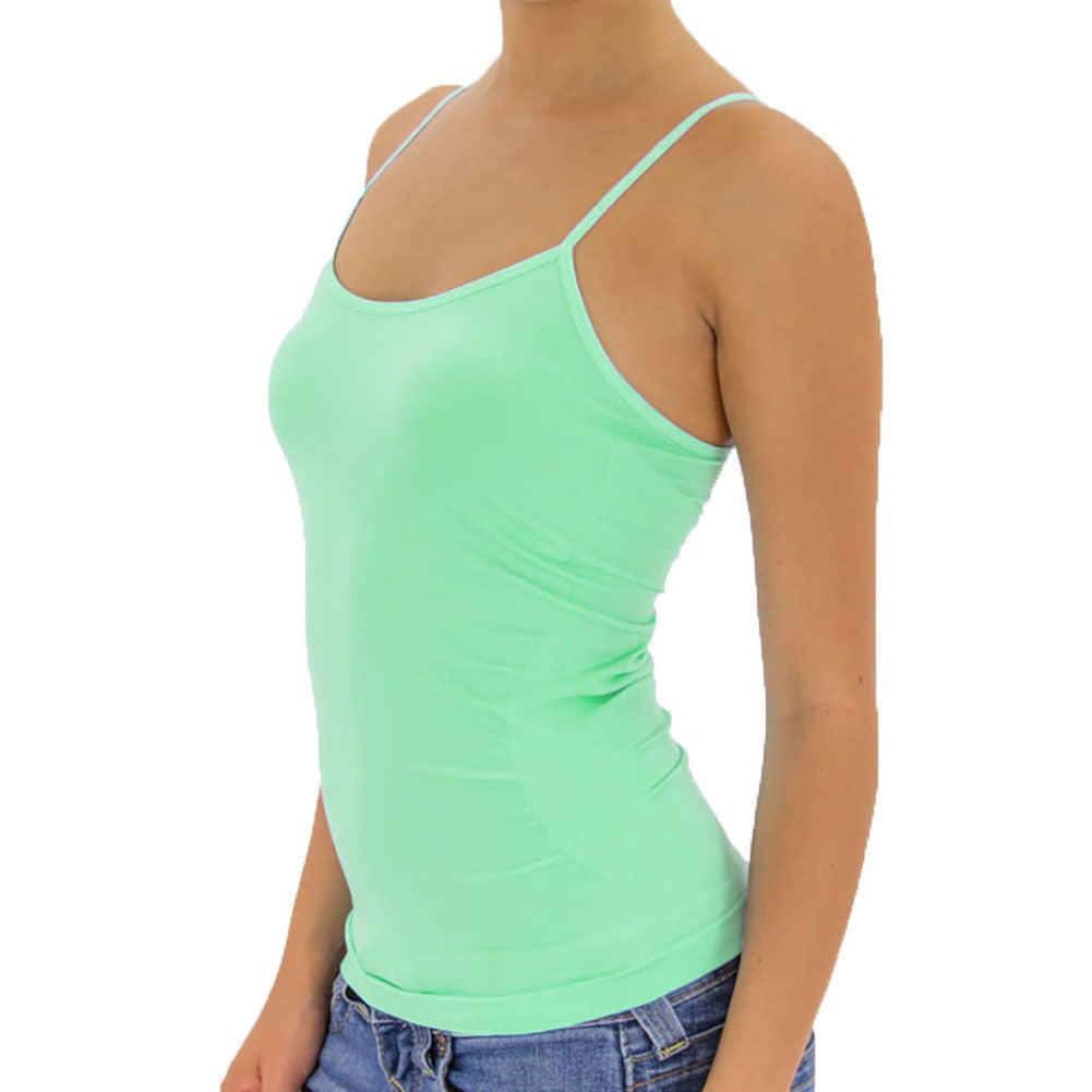 Women's Seamless Stretch Camisole Cami Tank Top