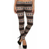 Women's Plus Size Festive Print Soft Faux Fur Lined Leggings