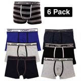 Men's 6 Pack of Stretch Boxer Briefs