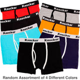 Men's 4 Pack of Stretch Cotton Color Boxer Briefs