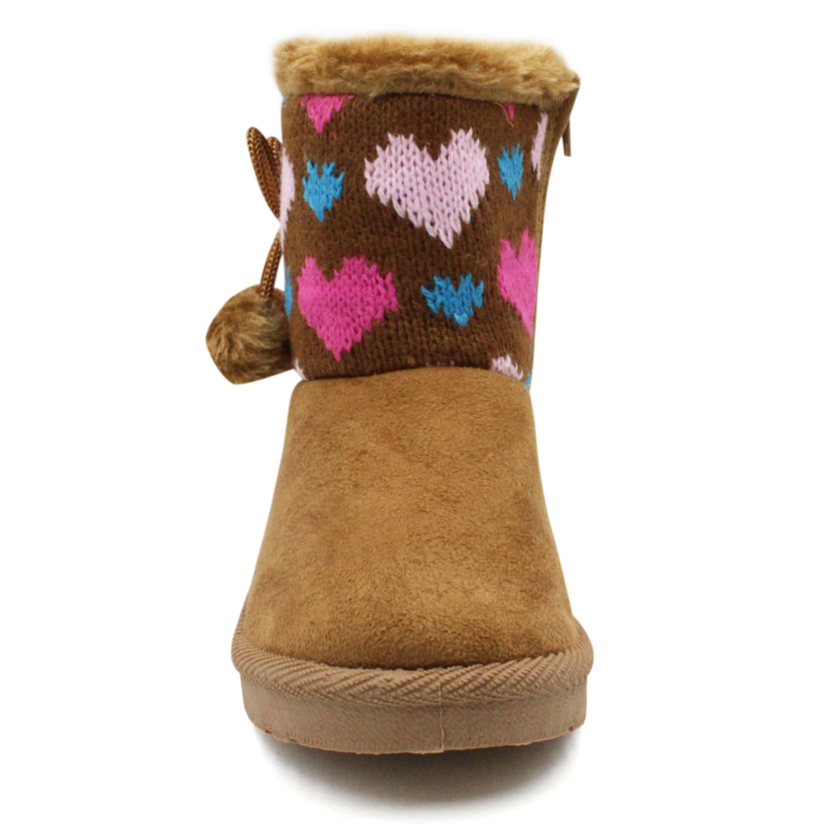 LAVRA Girls Classic Mid Calf Booties Cute Assorted Fur Lined Winter Boots