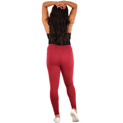 Women's Full Length Solid Color Basic Leggings