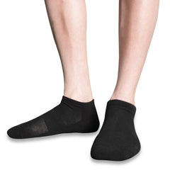 SLM Men's 3 Pair Low Cut Cotton Athletic Cushioned Ankle Socks