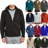 Men's Polar Fleece Zip Up Long Sleeve Jacket