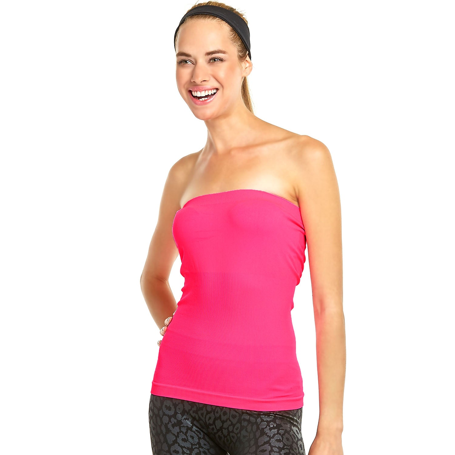Women's Seamless Stretch Long Bandeau Tube Top