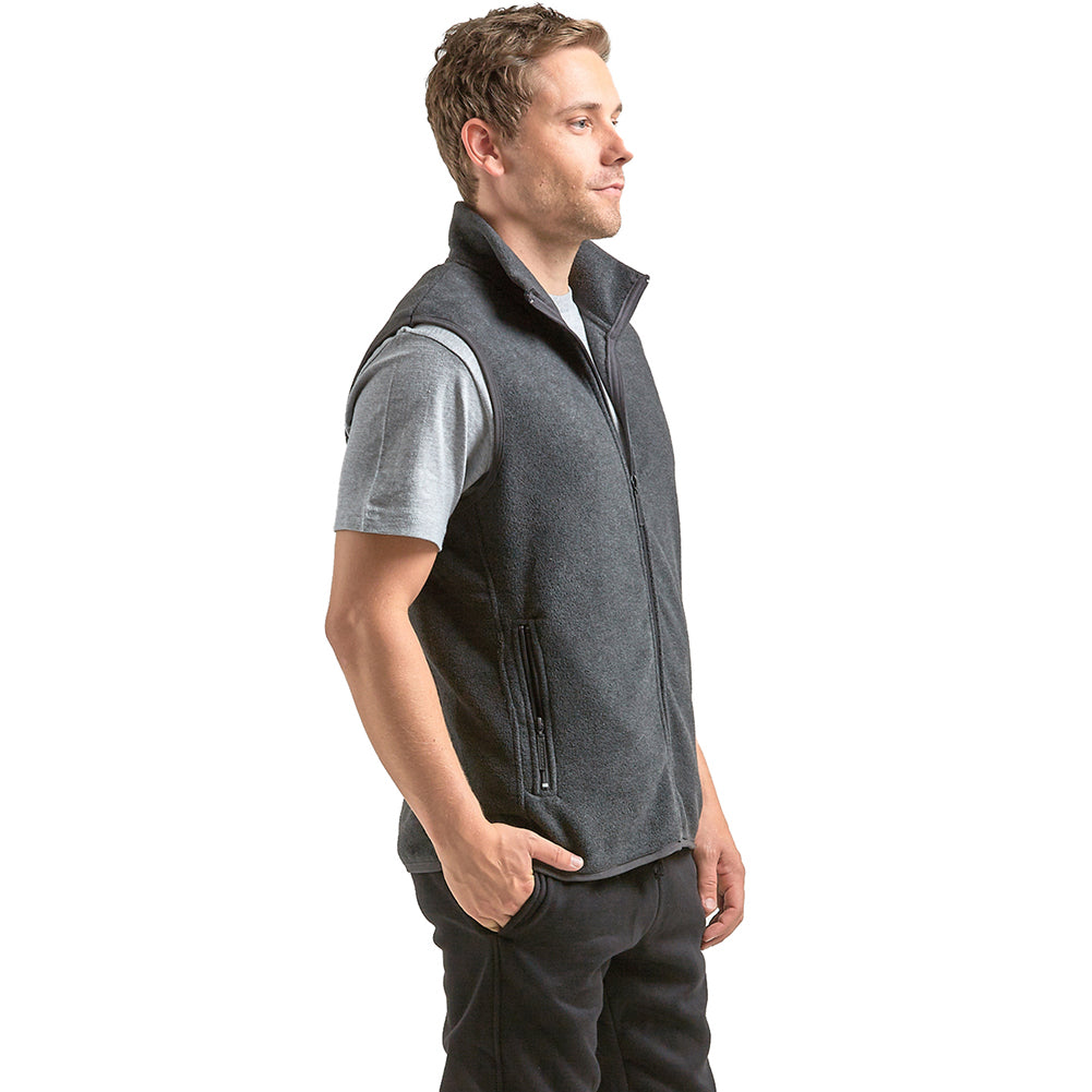 Men's Polar Fleece Zip Up Vest