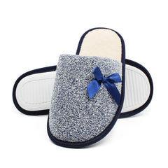 Women's Knit Faux Fur Slippers