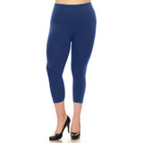 LAVRA Women's Plus Size Capri Legging Cropped Solid Color Nylon Premium Soft