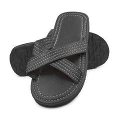 Mens Casual Cross Strap Slip On Sandal Slides