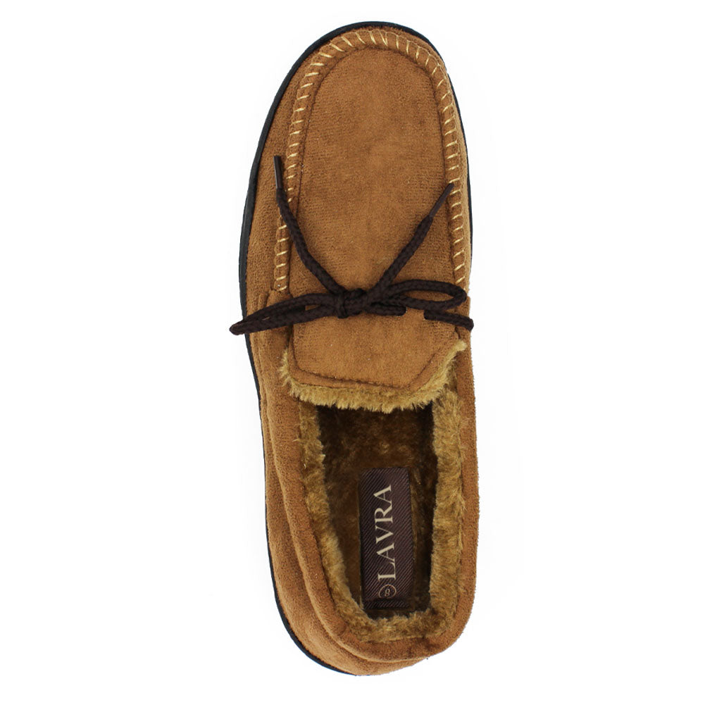 Men's Faux Fur Moccasin Boat Loafers