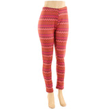Women's Plus Size Faux Fur Lined Printed Leggings