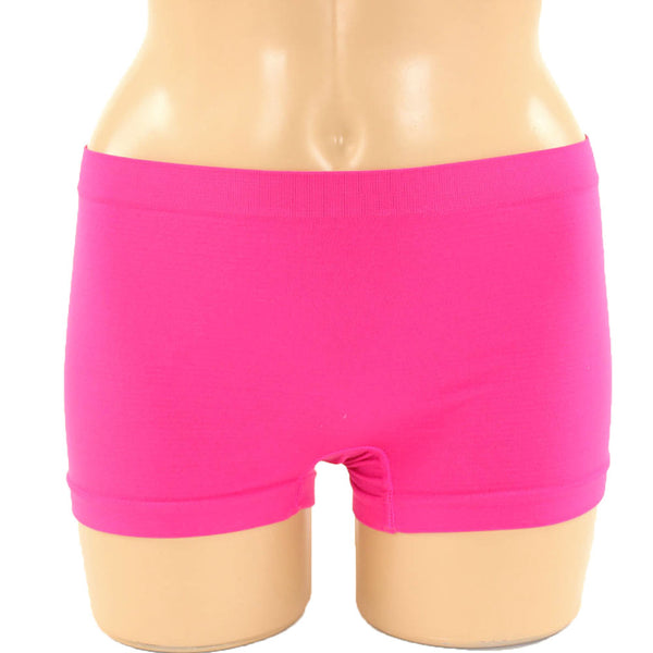 6 Pack of Women's Seamless Stretch Boy Shorts Panties