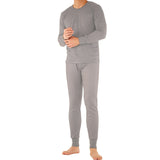 Men's 100% Cotton Thermal Underwear Two Piece Set Long Johns
