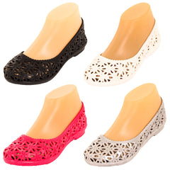 Women's Jelly Crochet Ballet Flats