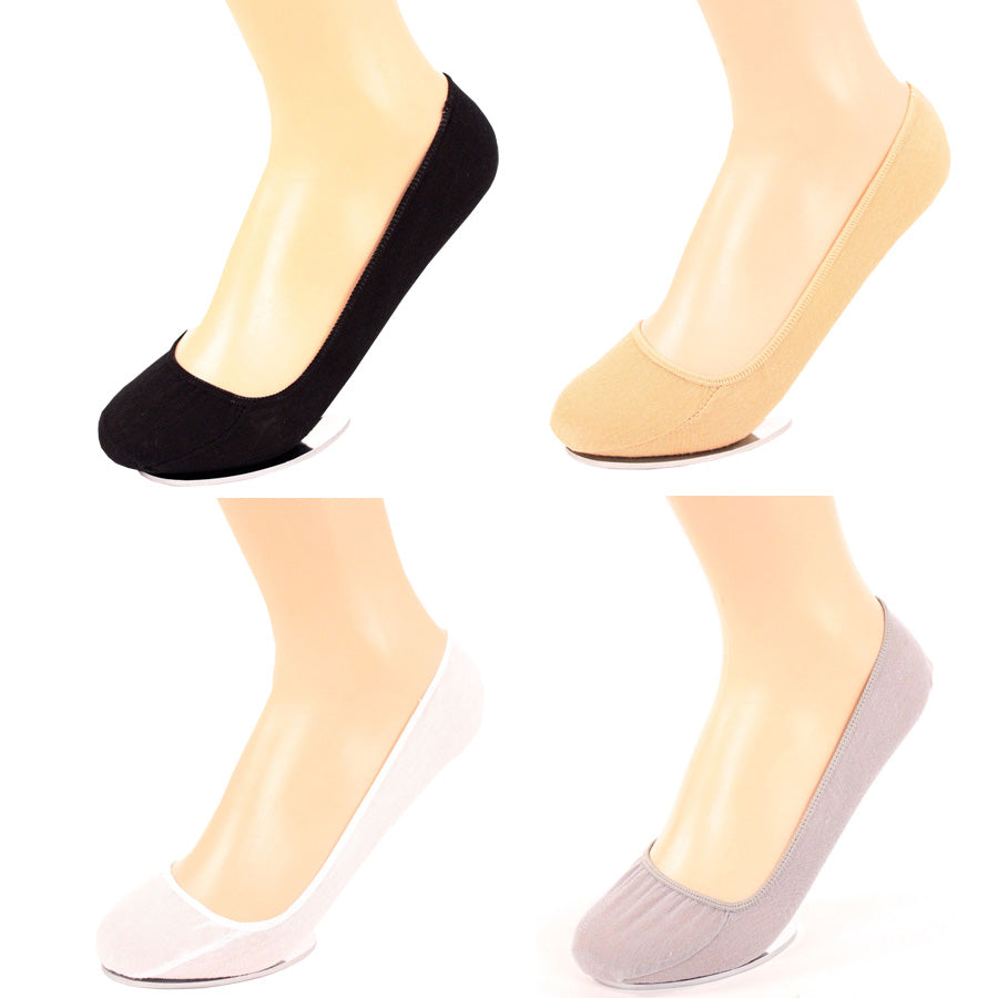 Women's 6 Pairs of No-Show Liner Socks