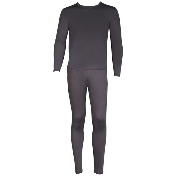 Men's Microfiber Fleece Thermal Underwear Two Piece Long Johns Set