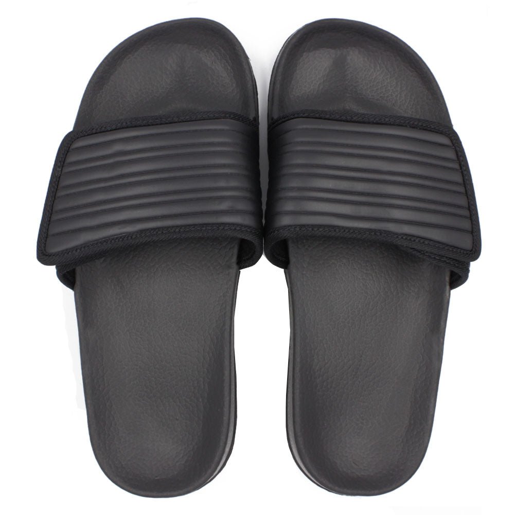 Men's Adjustable Hook and Loop Closure Slip On Sandals