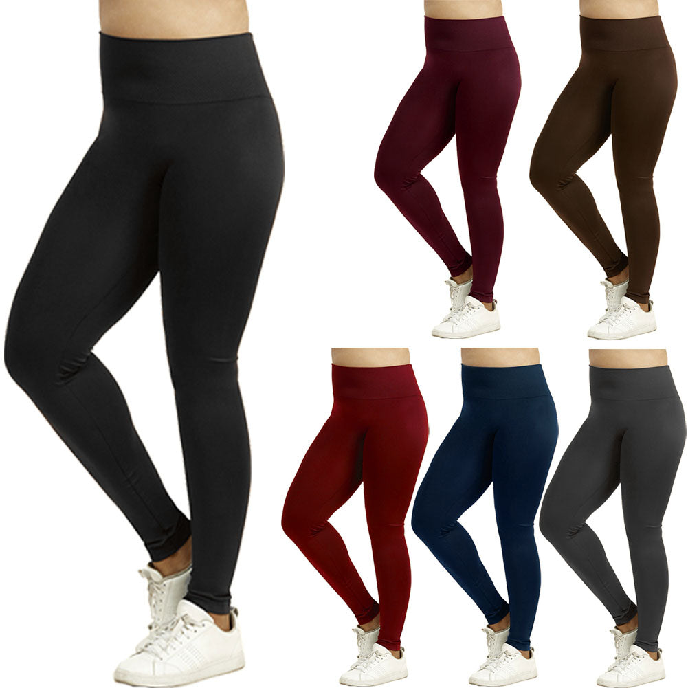 Women's Wide Band Plus Sized Full Length Leggings