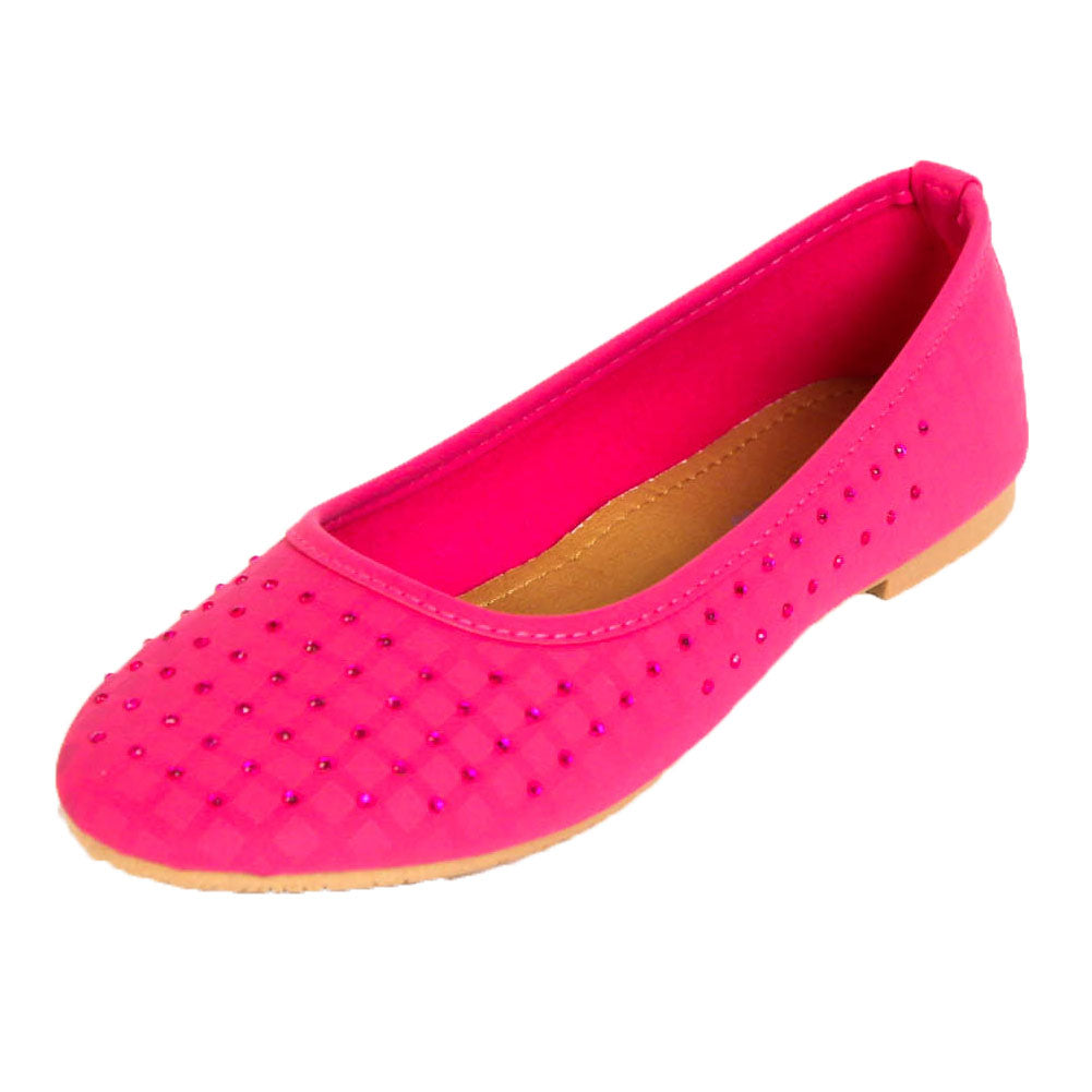 Women's Jewel and Stud Embellished Ballet Flats