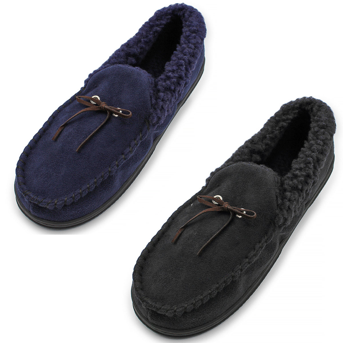 Men's Plush Faux Fur House Slippers