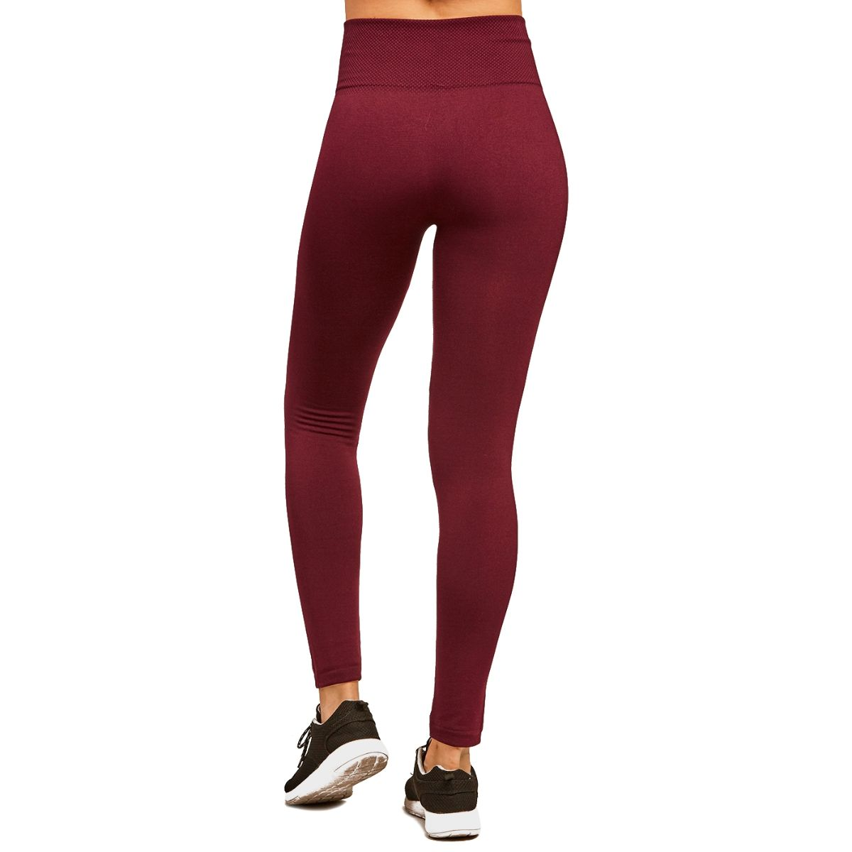 LAVRA Women's Wide Waistband with Fleece Lined Leggings Extra Warmth High Waist Pants