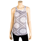 Women's Loose Fit Bandana Print Racerback Tank Top
