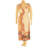 Women's Plus Size Boho Printed Long Maxi Dress