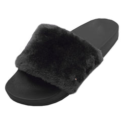 Women's Furry Mule Slide On Sandals