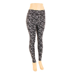 Women's Plus Size Printed Contrast Panel Leggings