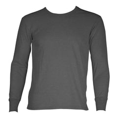 SLM Mens 100% Cotton Waffle Knit Thermal Top Long sleeve Winter Crewneck