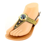 Women's Ankle Strap Roman Jewel Sandals