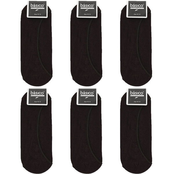 Men's 6 Pairs of Cotton No Show Liner Socks