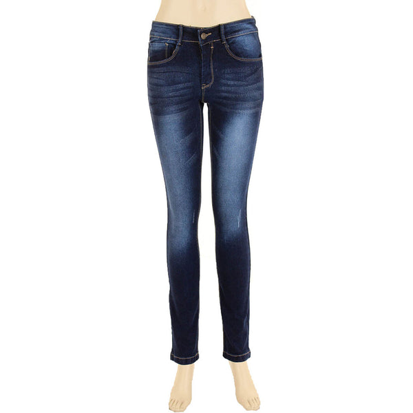 Juniors Faded Wash Skinny Jeans