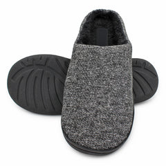 Men's Thick Ribbed Scuff Slippers