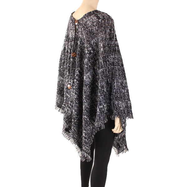 Women's Poncho Shawl Knitted Cape