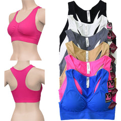 Women's 6 Pack of Seamless Padded Sports Bras