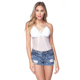 Women's Mesh Lace Bodysuit