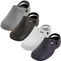 Men's Solid Slingback Gray Garden Clogs