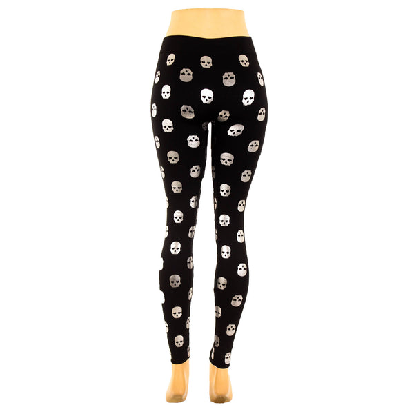Women's Fleece Lined Metallic Foil Print Leggings