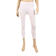 Women's Cropped Calf Length Solid Color Basic Leggings