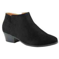 Lavra Women's Stacked Chunky Heel Booties Pointed Toe Ankle Boots