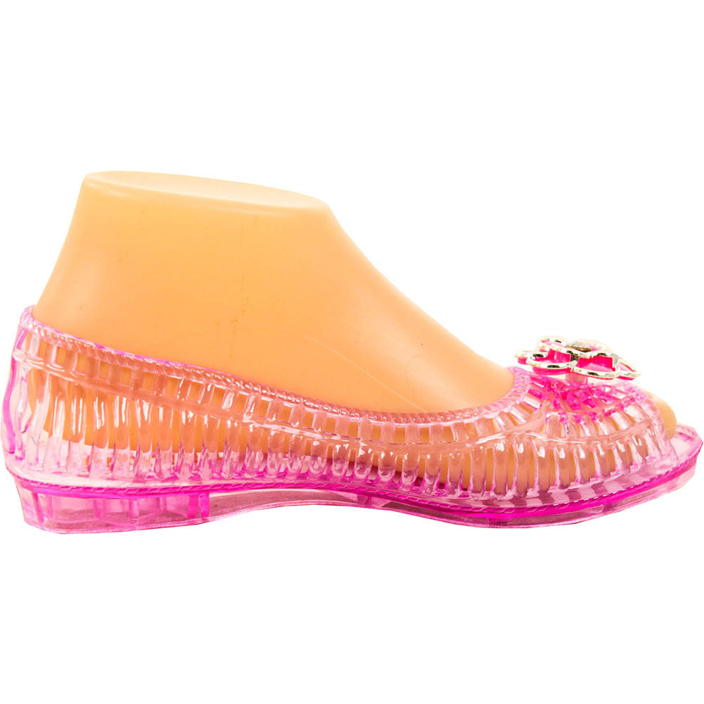 Women's Open Toe Jelly Ballet Flats
