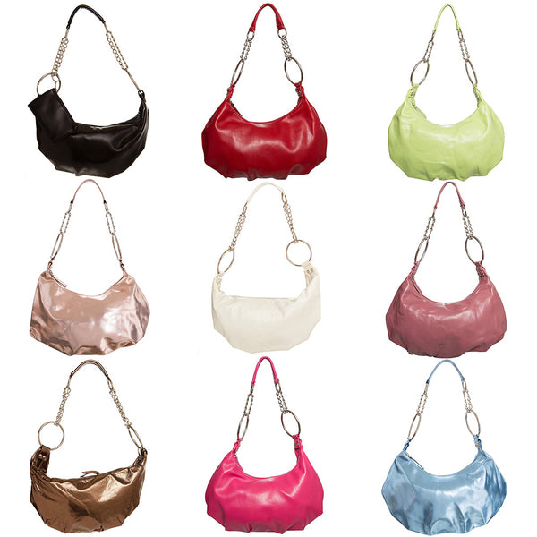 Chain Strap Hobo Handbag